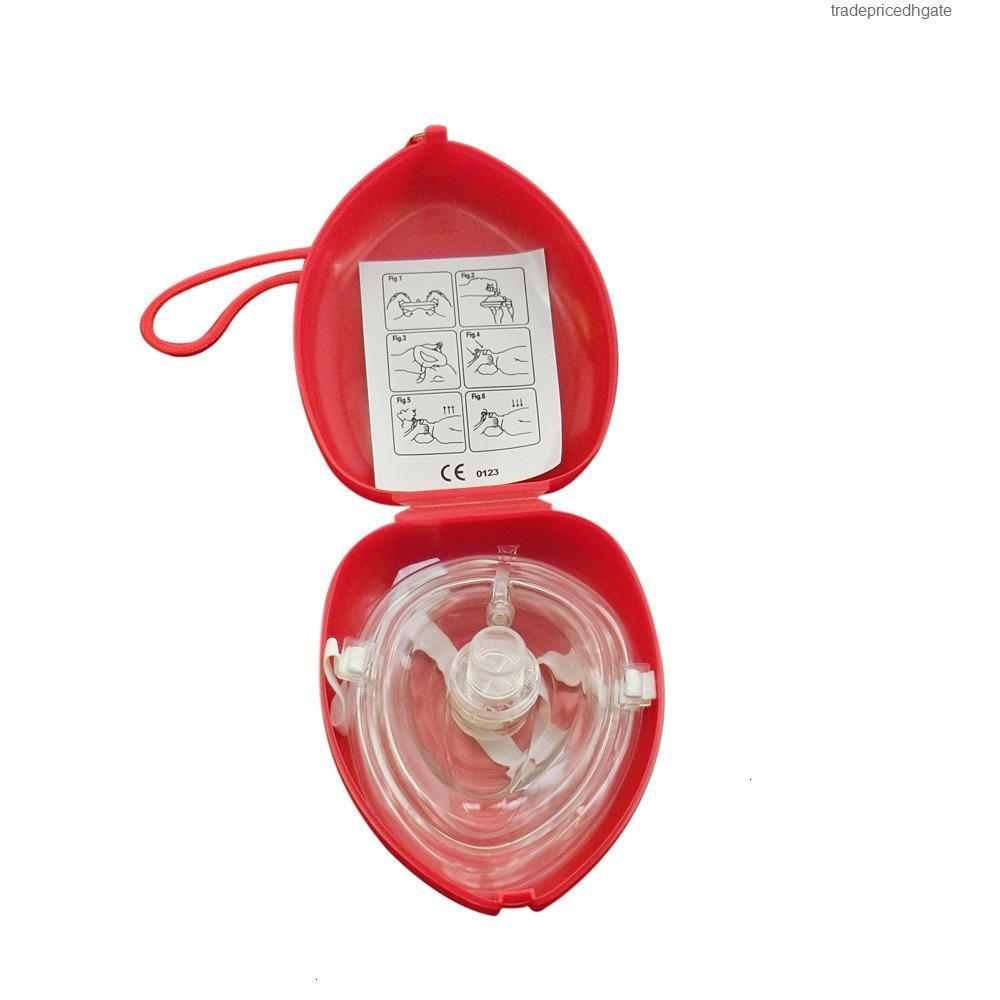 10PCS / LOT قناع الإنقاذ CPR الإنعاش مع صمام التنفس الجيب في اتجاه واحد للإسعافات الأولية معدات الطوارئ