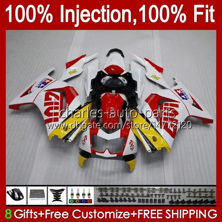 Инъекция для Kawasaki Ninja ZX250R EX250 2008 2009 2010 2011 2011 2012 13HC.79 красный белый новый EX250R ZX-250R ZX250 ZX 250R 08 09 10 11 12 Объем