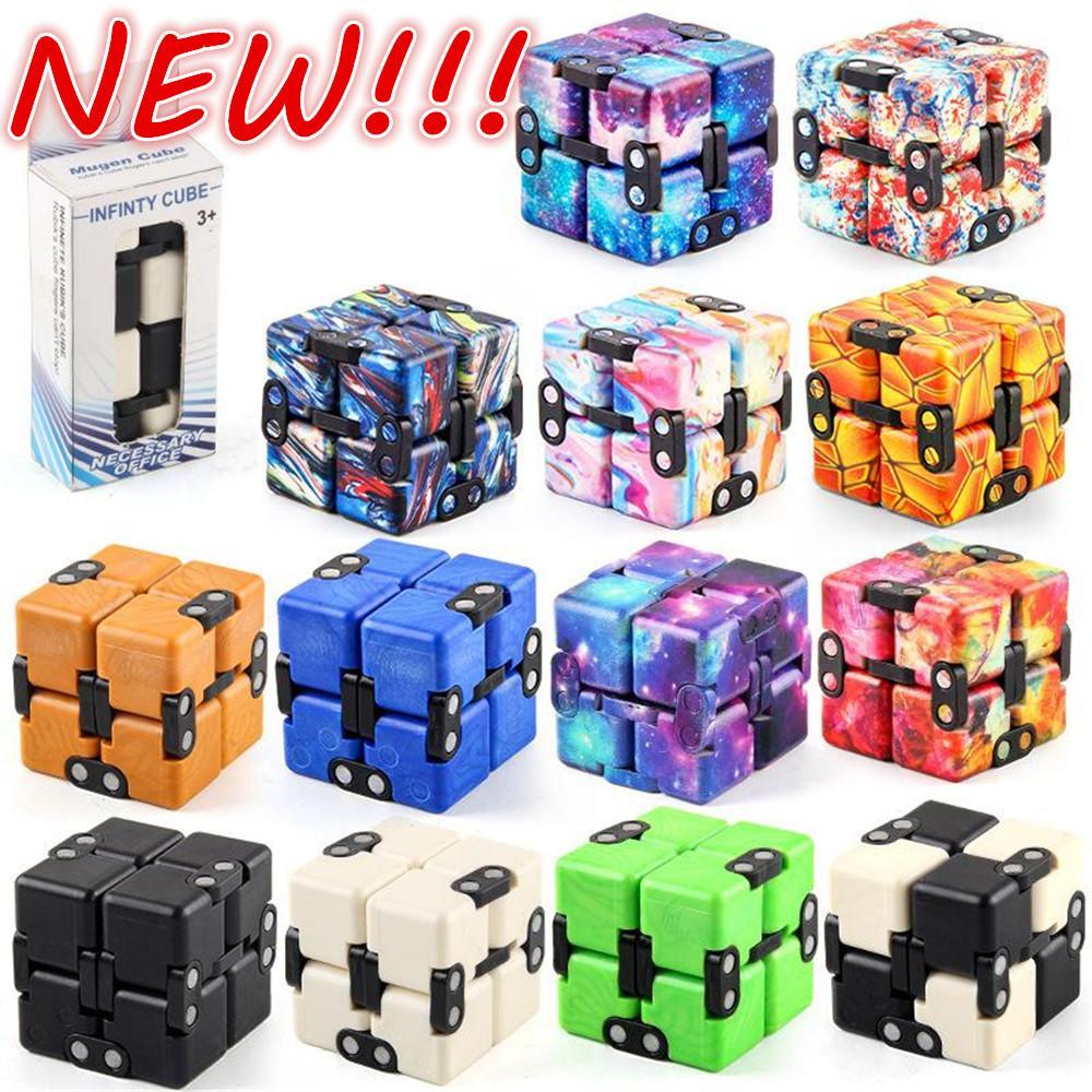 NUOVO!!! Decompressione giocattolo cubo infinito magico cubo per bambini puzzle giocattoli adulti portatili decompressi per il relax giocattoli spedizione veloce
