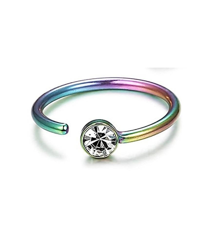 Anello ad anello naso in acciaio inox nail c anelli piercing corpo a forma di bordi di cristallo diamante per le donne gioielli moda gioielli e sabbioso
