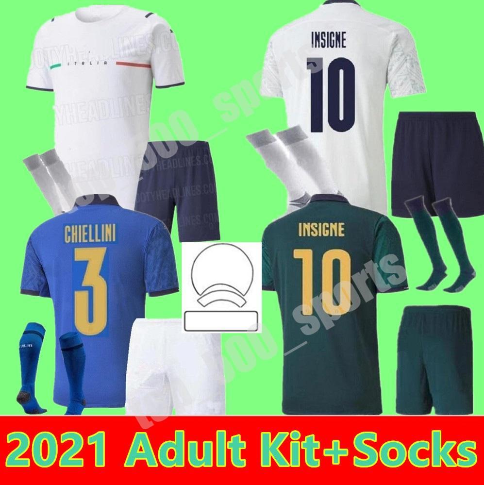 الرجال كيت كأس الأوروبي فريق القميص لكرة القدم الفانيلة 2021 باريلا Sensi Insigne 21 22 النهضة Chiellini Bernardeschi الصفحة الرئيسية بعيدا كرة القدم قمصان الزي الرسمي