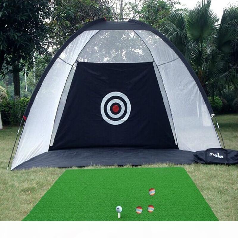 3m * 1,8m * 2m Dobrável golfe batendo torre de torção de gaiola esporte ao ar livre esporte esporte de golfe balanço swork jardim grassland prática de golfe líquido