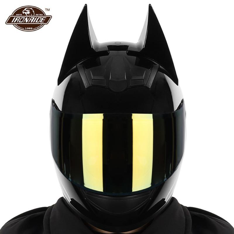 Helmets de moto Hommes Casque Full Full Visage Casco Moto Double Visor Motocross Capacete Personnalité Accessoires Moto