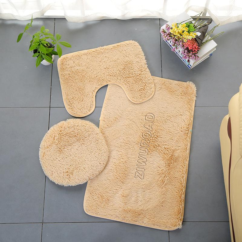 ZIWUROAD Textile floor mats Bathroom non-slip floor mat, toilet mat, absorbent non-slip carpet