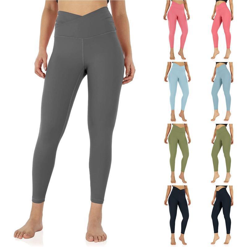 Наряды йоги Женские крестные легинги на пояс с внутренней карманной тренировкой, бегущие колготки брюки фитнес высокие легкие бесшовные
