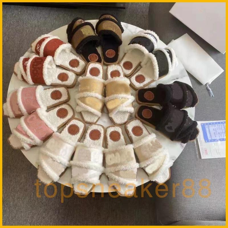 Chol Baumwollschuhe Frauen Winter Sandalen Mode Weiße Schwarz Rot Warme Schuhe mit Kasten