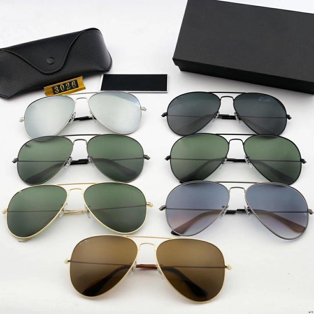 Bestseller Mode Herren Retro Aviator Sonnenbrille Glas Sonnenbrille Kröte Spiegel Gläser Antrieb Fahren Brille Für Männer und Frauen Etzhzeh