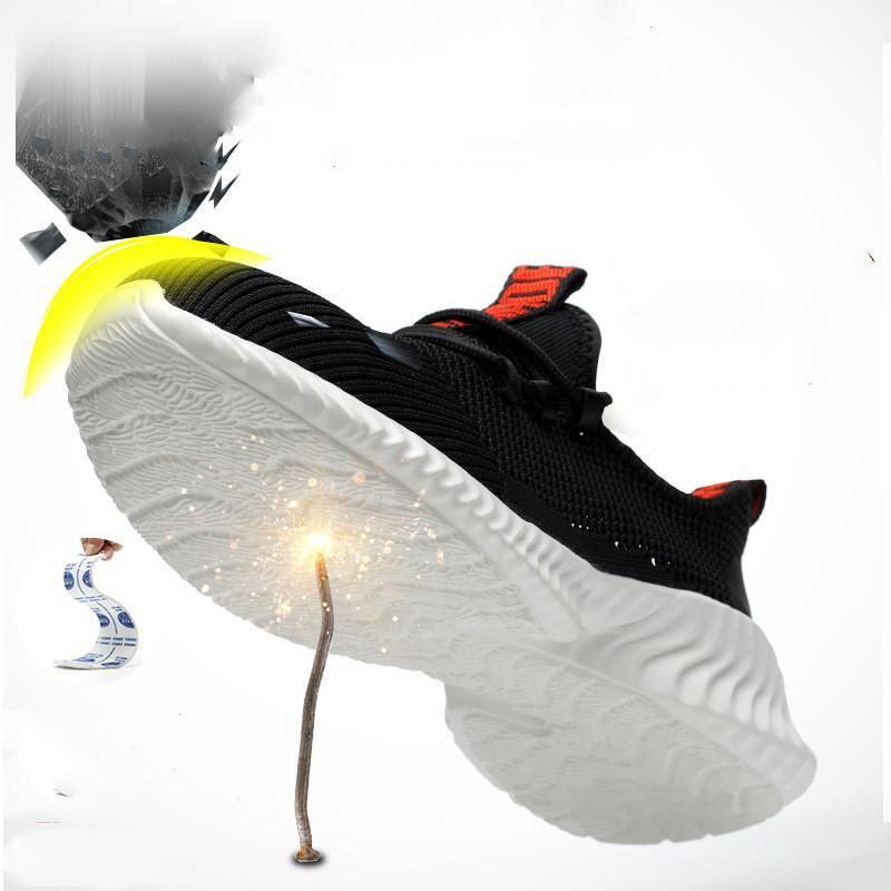 Die neue männliche Arbeit Sneakers Steel Toe Cap Work Safety Boots Comfort Männer Stiefel Anti-Punktion Sicherheitsschuh Smens atmungsaktive Sicherheitsschuhe