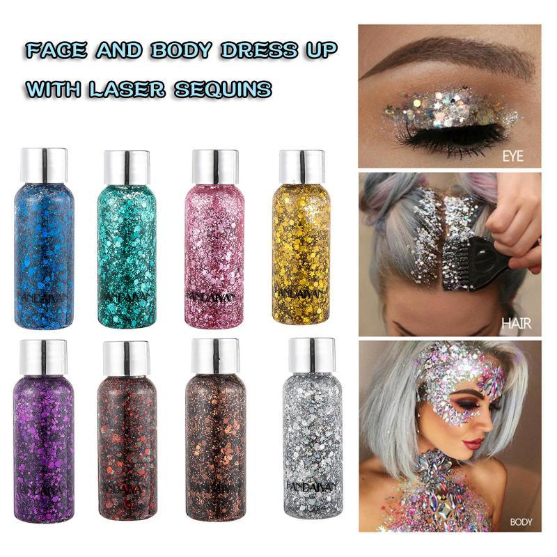 Eye Shadow Haicar Liquido Eyeshadow Glitter Paillettes colorate Paillettes Polarized Face and Body Dress up
