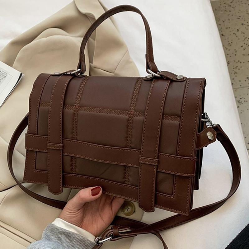 Vintage Quilted Mulheres Ombro Flap Bolsas 2021 Designer Bolsas de Design de Luxo Crossbody Messenger Bag Senhoras Moda Trendy Chic Bolsas