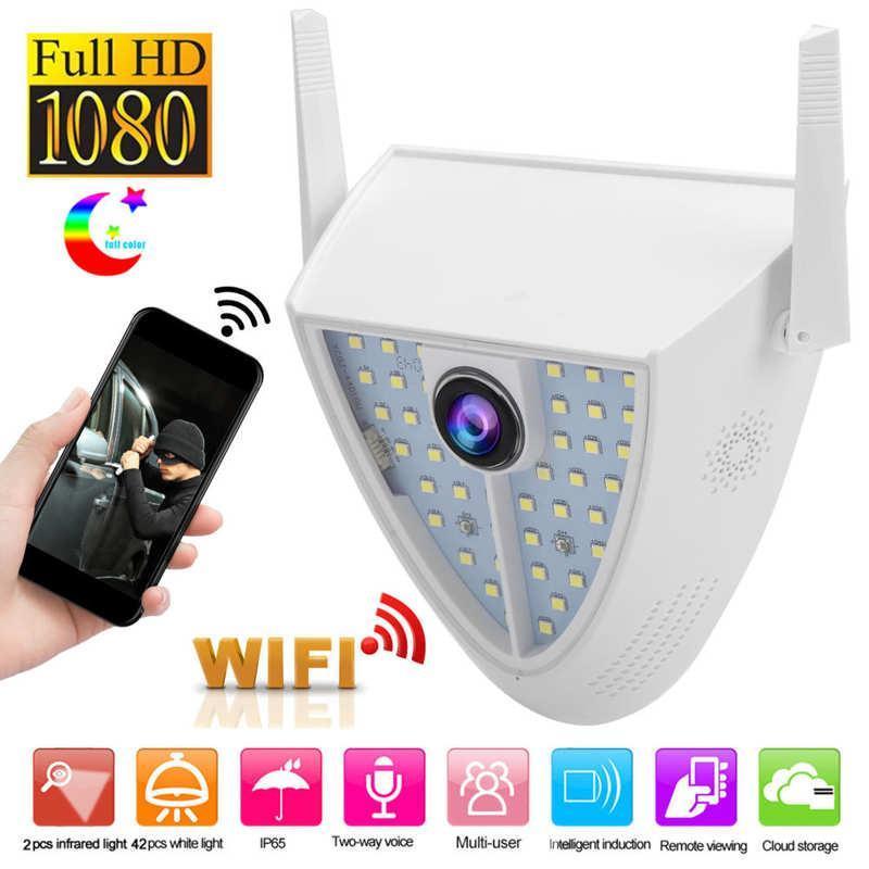 1080P WiFi Camera 44 Lights Courtyard Monitor 2-Way Audio Full-Color Nigh Vision IP65 Waterproof 100-240V