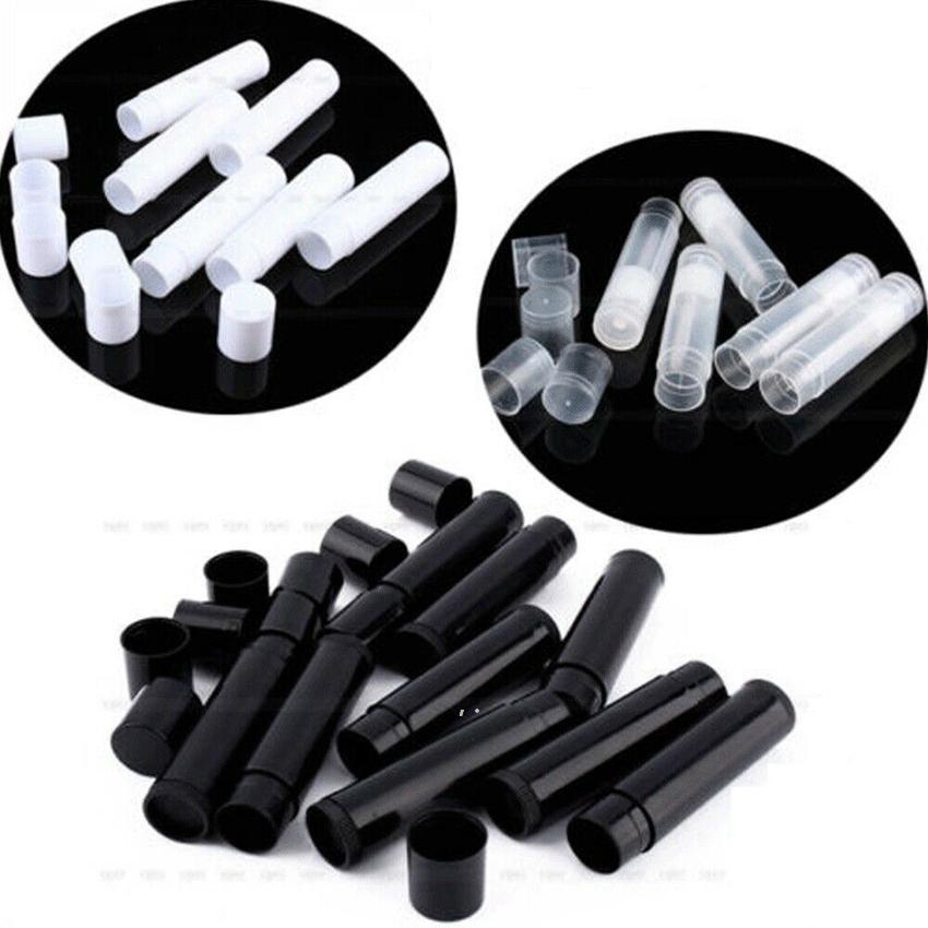 new5g 화장품 빈 chapstick 립 광택 립스틱 밤 튜브 및 모자 컨테이너 검은 흰색 명확한 색상 EWF1227