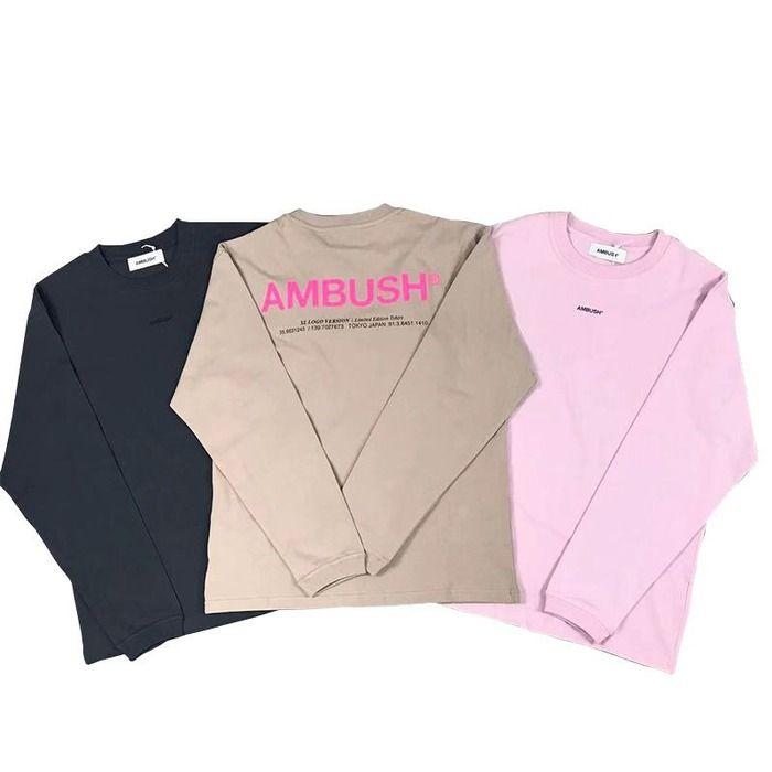 Herbst- und Damenherbst und Winter Höchste Version von Hinterhalt Big Brief Logo hinter den grundlegenden Baumwollpullover-Langärmeln Hemden