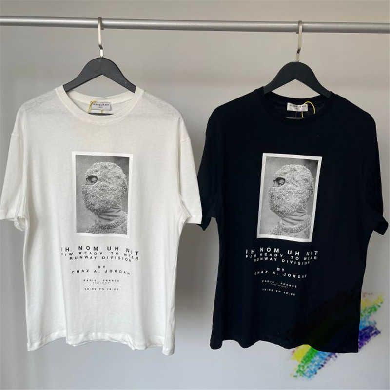 2021SS IH NOM UH NIT RELEASED MASK T Shirt Männer Frauen 1: 1 Hohe Qualität Sommer Stil Digitaldruck Lose Top Tees T-Shirts X0712