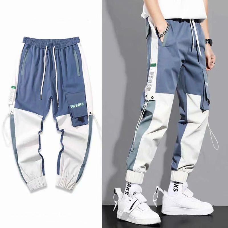 Joggers 2021 Casual Streetwear Harajuku Losse Moda Japón Trendy Elastic Tail Men Ropa Potlood Broek