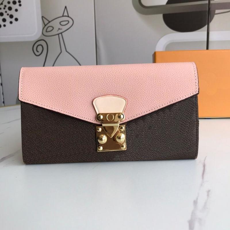 LOCK LUXURIES Monedero Mujer Bolsa de billetera Classic 2021 S-Forma en forma de embrague Pallas Diseñadores Tarjeta Tarjeta con la caja de polvo Moda IBXVV