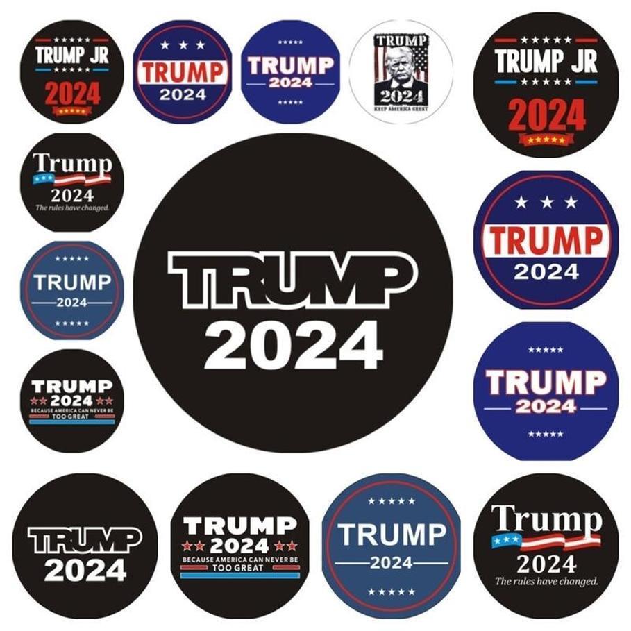 트럼프 2024 범퍼 스티커 자동차 창 벽 데칼 규칙 변경 Maga 스티커 대통령 Donald Trump는 accesseries를 뒤로 올립니다.