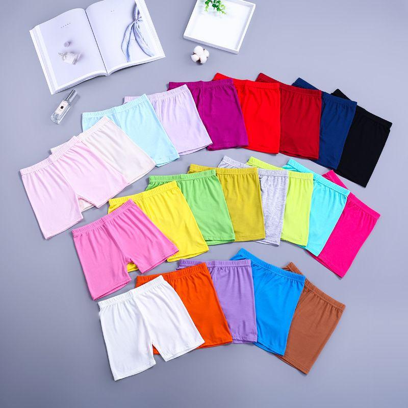 Ücretsiz DHL 22 Renkler Ins Çocuk Kız Şort Yaz Sonbahar Pamuk Kısa Tayt Güvenlik Pantolon