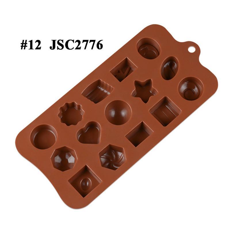 Çikolata Kalıpları Silikon Sıcak Kakao Bombaları Kalp Kalıpları Için Çikolata Şeker Kalıpları Silikon Şekiller Festivali Düğün Partileri için Silikon Şekiller JSC27613