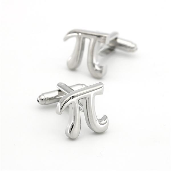 Simboli matematici Design PI Gemelli PI non arrugginito Colore argento Collegamenti GrossistaTetail Qualità Materiale ottone L0310