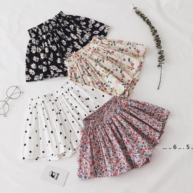 Daisy Falda Pantskirt Girl Tutu Shorts Lovely Summer Summer Extranjero Estilo delgado Algodón Pantalones de pierna ancha Mini Flor Daisy Kid Ropa FWE4790