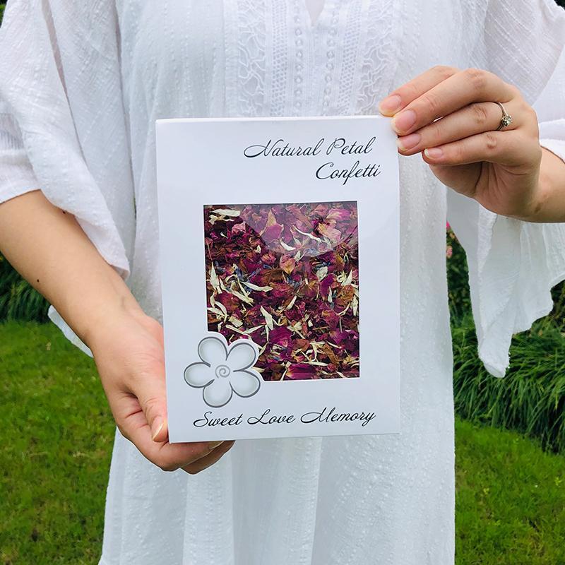 1-литровый натуральный свадьба Confetti FeestiGo биоразлагаемая сушеная розовая лепестка цветов конфетти свадьба и праздничная вечеринка