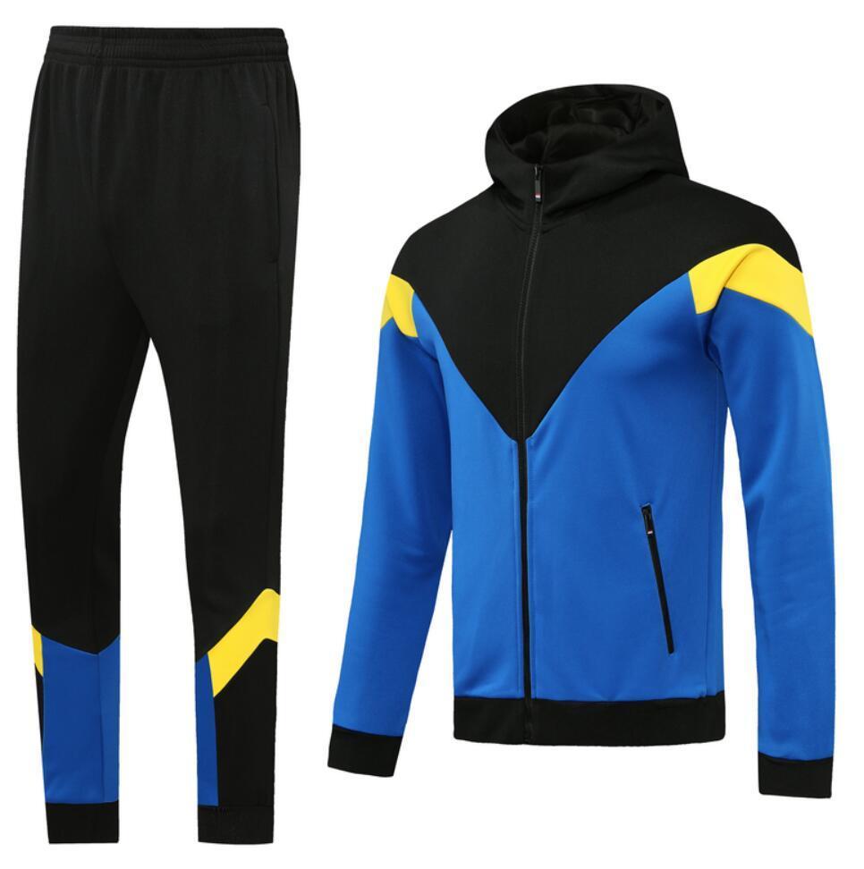 0003 style classique blouse à capuche à capuche veste de football usure Maillot de pied Maillot de pied Taille de la fermeture à glissière complète S-XL