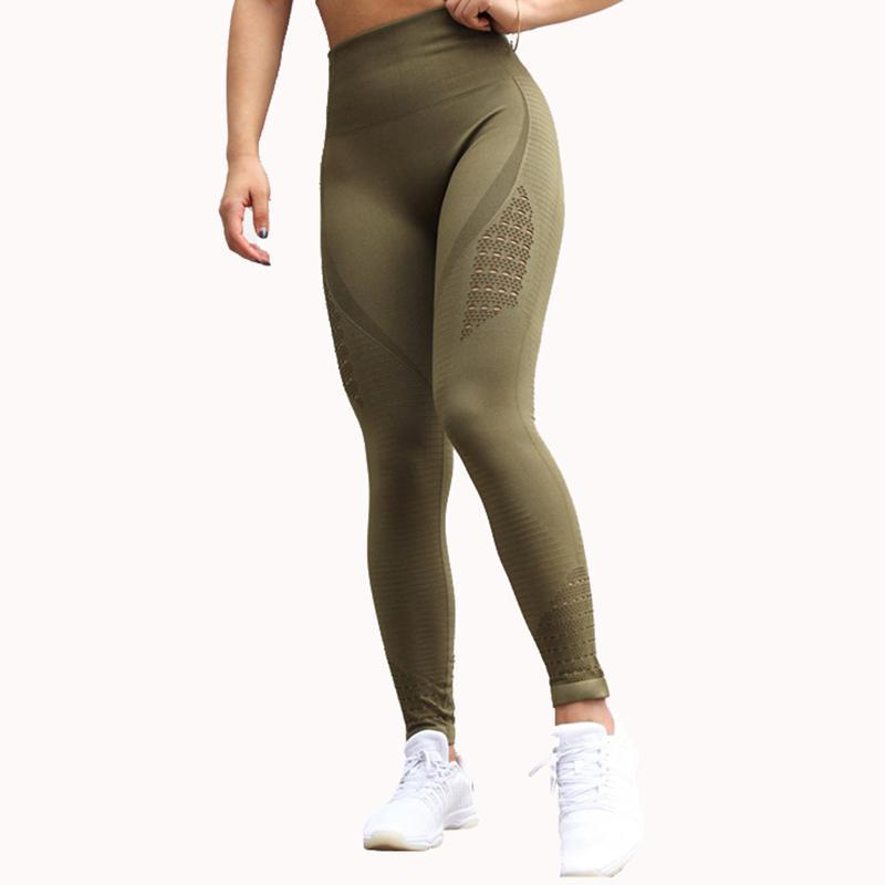 Nepoagym Khika Energy Sans couture Taille High Taille Leggings de compression Pantalon Pantalon Tummy Control Gym Pants Booty Scrunch Fitness