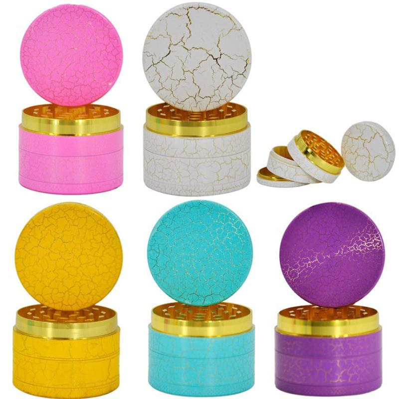 50mm Dia Zinc Alloy Crack Grinder 4 Layers Smoking Tabacco Grinders Metal CNC Teeth Dry Herb Crusher Bar Party Cigarette Accessories