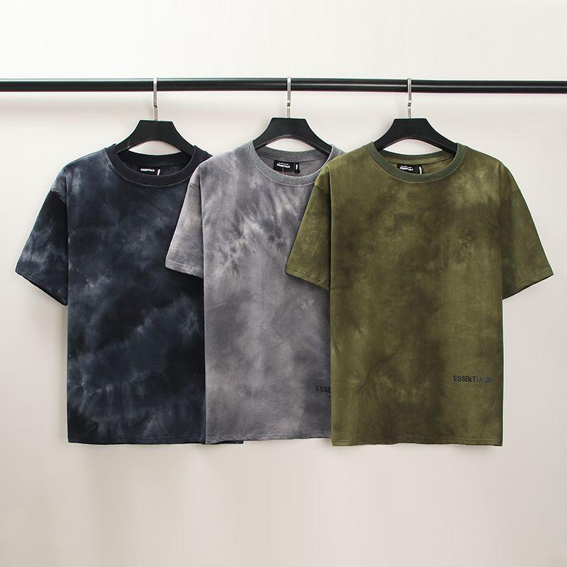 CE22 P50 Nevoeiro Medo de Deus de manga curta VTG Cores sólidas camisa de fundo do vintage frouxo simples lavado t-shirt t-shirt