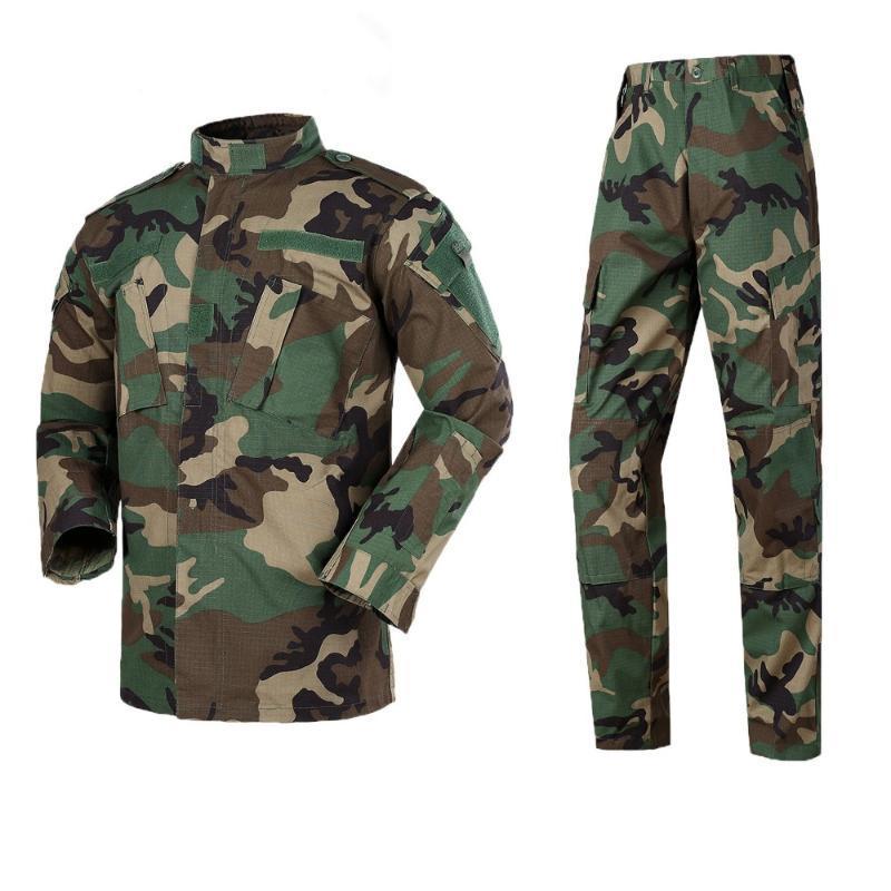Neue Männer Army Uniform Taktische Spezialkräfte Combat Camouflage US Militar Soldier Wäscherei Pant Set für Mans Uniformen
