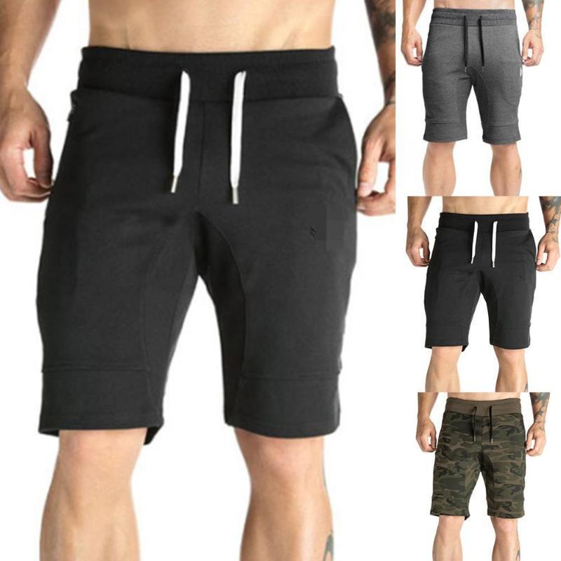 Männer Shorts Sommersport Männer Tarnung Massive Farbe Kordelzug Fitness Fünfte Hose Camo Kurzbeschäftigte Fracht