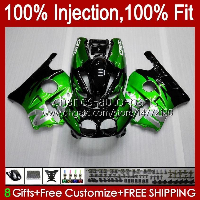 Injektion för Honda CBR 250RR 250 CBR250 CC RR 1990 1991 1992 1994 1995 96 97 98 99 111HC.2 MC22 250CC CBR250RR 90 91 92 93 94 95 1996 1997 1998 1999 Fairing Silvery Green