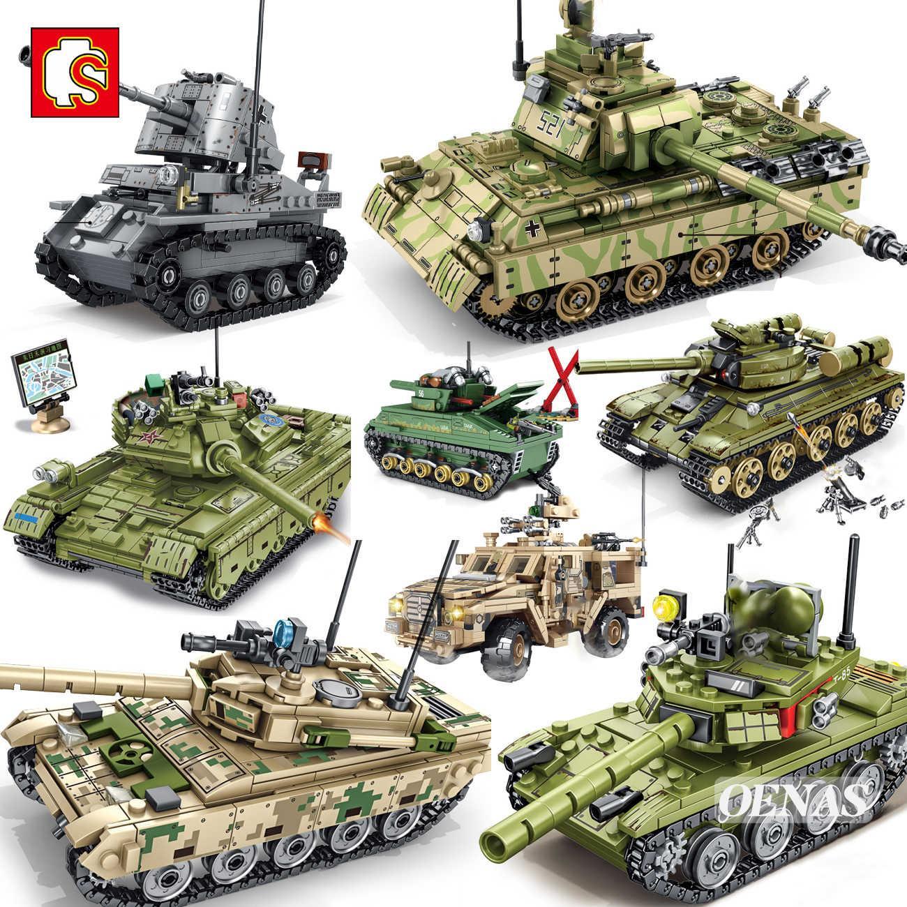 شبه العسكرية WW2 الجيش عمل أرقام VT4 T34 Z9 الرئيسية معركة خزان مركبة نموذج اللبنات أطقم أطفال ألعاب تعليمية هدية