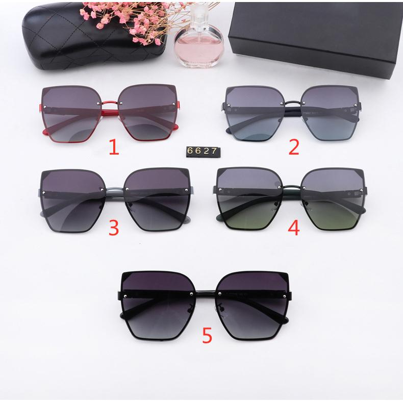 Concepteur femmes chat lunettes de soleil lunettes de soleil mode classique polarisée lunettes de soleil de luxe haute qualité conduite lunettes avec boîte cinq couleurs en gros 6627