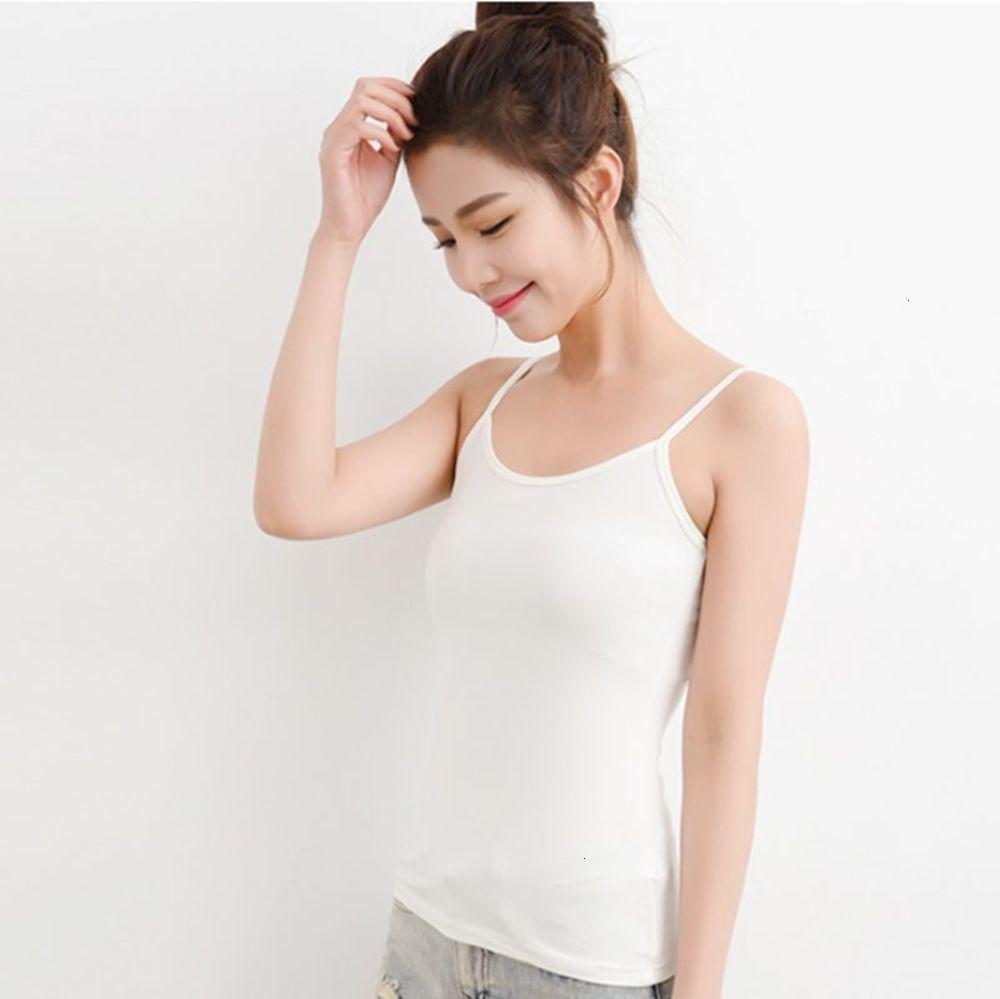 Summer new pure color suspender waistcoat for women tanks camis