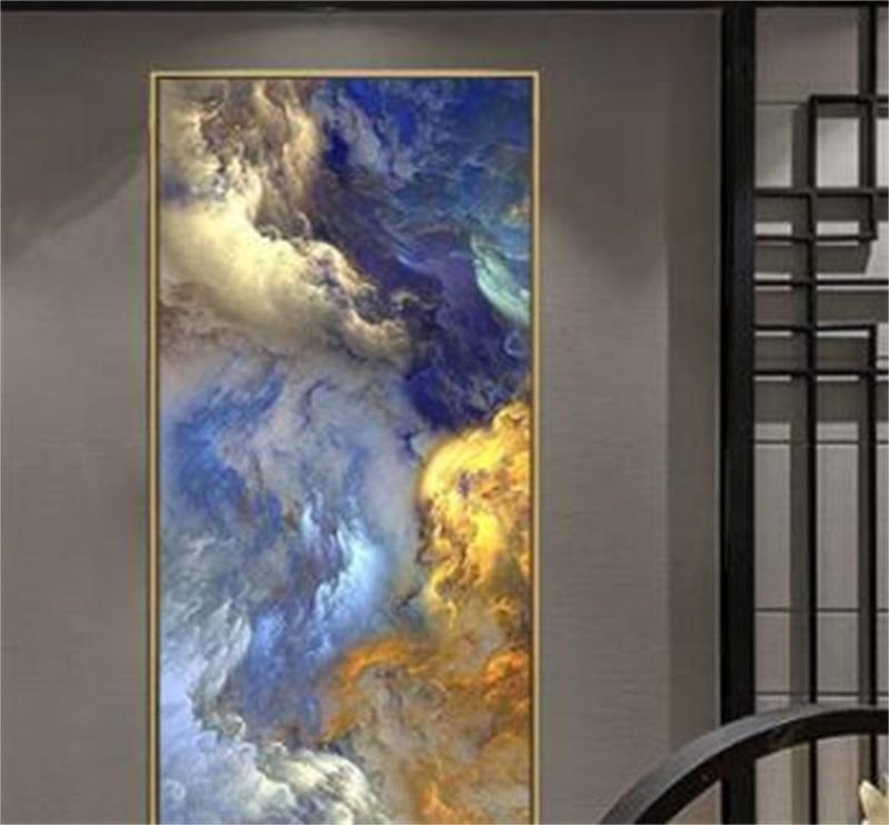 Wangart абстрактные цвета нереальный холст плакат синий пейзаж стены искусства росписью гостиной стены висит современное искусство печатает 110 v2