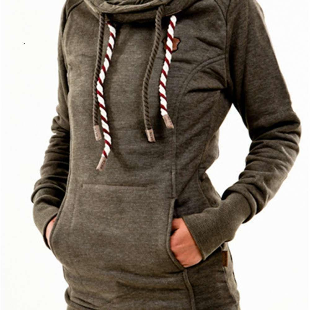 Suéter de las mujeres de la longitud media con capucha de la estrella con capucha de cinco puntas.