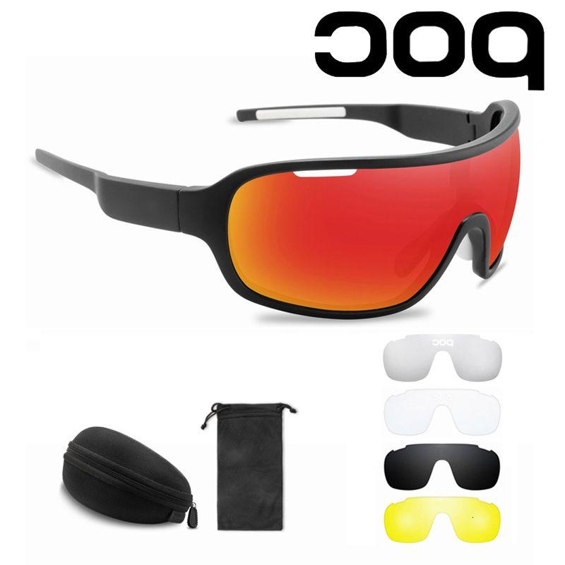 5 Objektiv Poc Outdoor Riding Sportmänner Frauen Brille MTB Bikes Sonnenbrille UV400 Gafas Ciclismo
