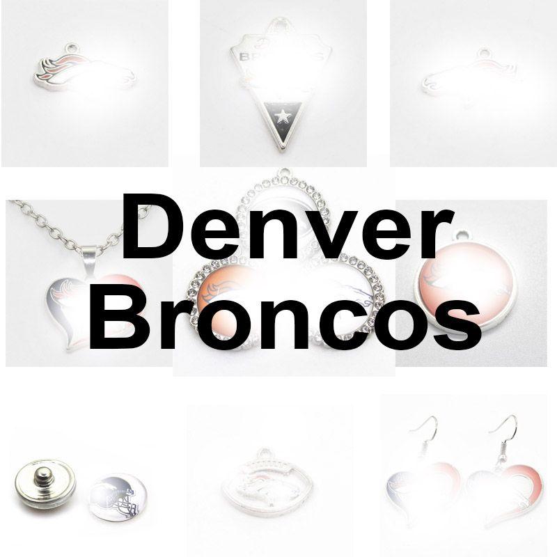 Équipe de football Denver Sport Charms Broncos Dangle Hanging Charms Bracelet Bracelet Bracelet Collier Bijoux Bijoux ACCESSOIRES