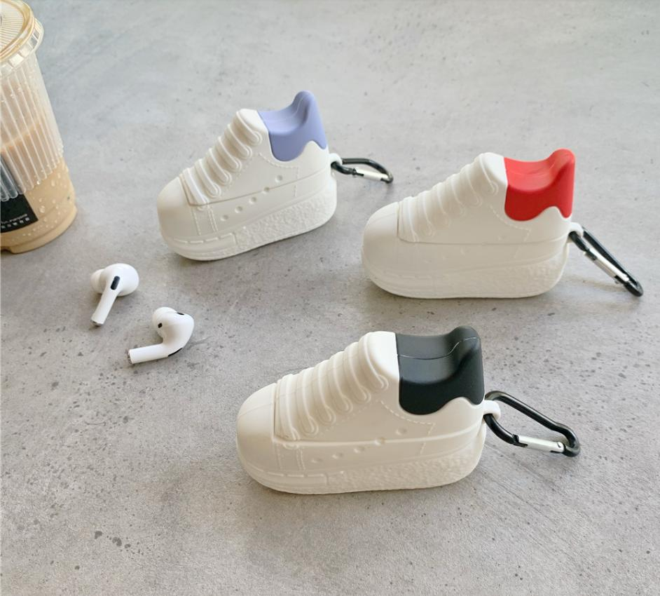 أزياء المد العلامة التجارية المملكة المتحدة مصمم mcqueen سكيت أحذية بلوتوث سماعة القضية ل airpods برو 2 1 3d سيليكون غطاء سماعة