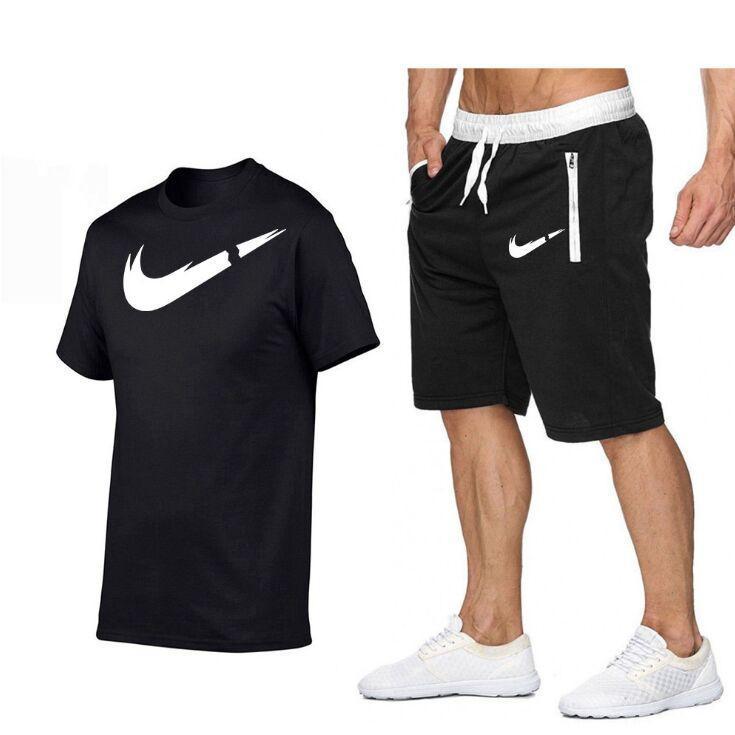 Uomo Set Summer Men S Designer Tracksuit Abbigliamento Costumi da bagno Uomo T-shirt + Pantaloni corti 2 pezzi Costume da bagno Set da jogging esterni Sport sportivi