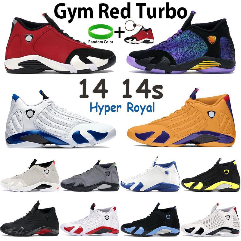 체육관 레드 터보 남자 14 농구 신발 14S 스포츠 트레이너 대학교 골드 로얄 블루 Doernbecher 검은 멀티 컬러 망 스니커즈 태그