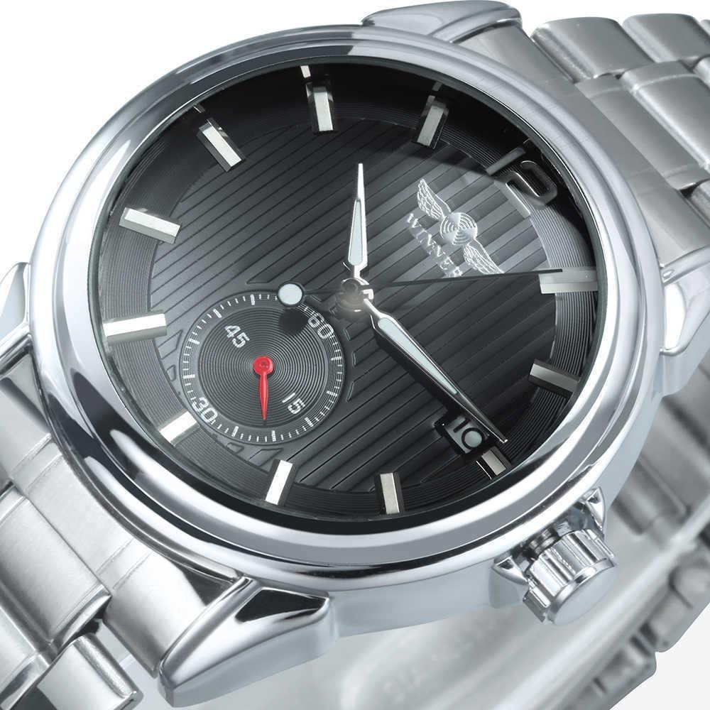 Vencedor Automático Mecânica Luxo Relógios Homens 2021 Top Marca Classic Steel Band Calendar Montre Homme Luxe