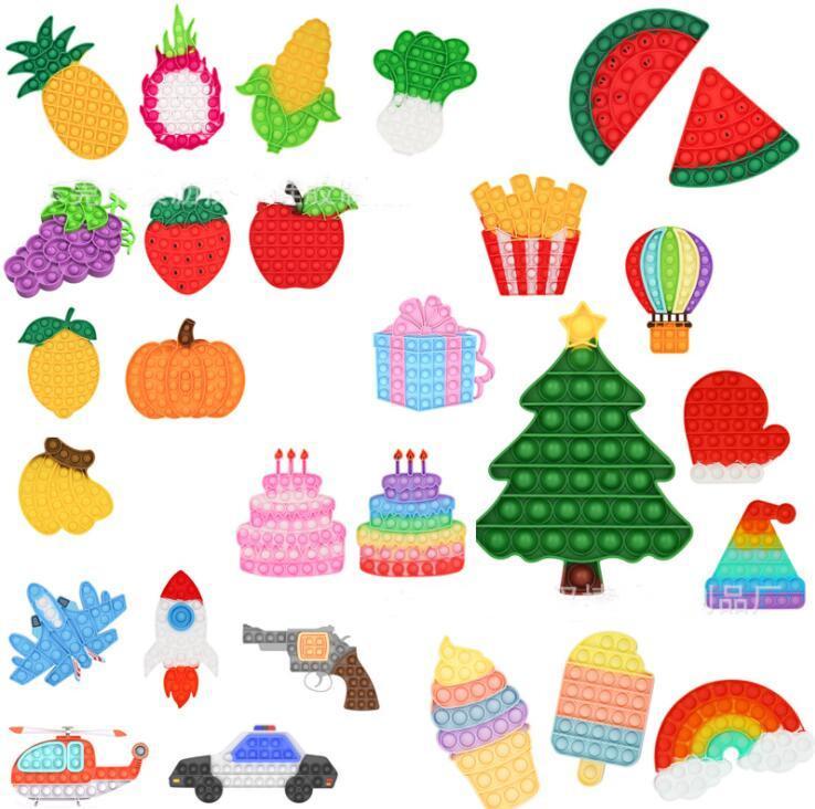 TIKTOK RAINBOW PUSH BAUBLE IT Zappeln sensorische Spielzeug Stresseinlagerung Stress Relief spielzeug Angst Relief Spielzeug für Kinder Geburtstagsfeier Dekompression Geschenke Fluoreszenz