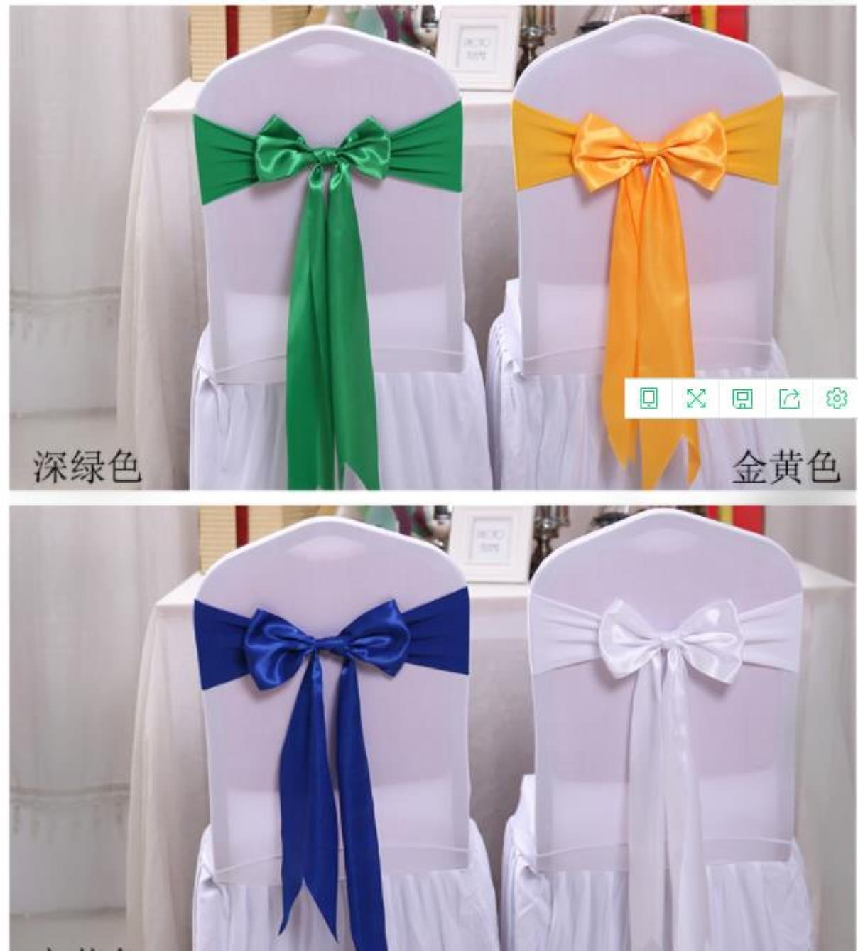 Ers Textiles Home & Garden25Pcs Wedding Decoration Knot Bow Sashes Satin Spandex Er Band Ribbons Chair Tie Backs For Party Banqu Jllkdk Drop