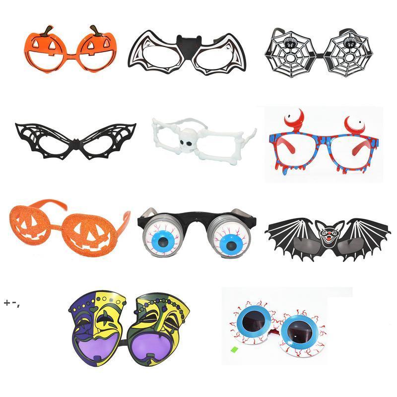 Occhiali da halloween Costume Party Divertente Partys Pumpkin Skull Spider Web Spaventoso Pop PROP OWB9967
