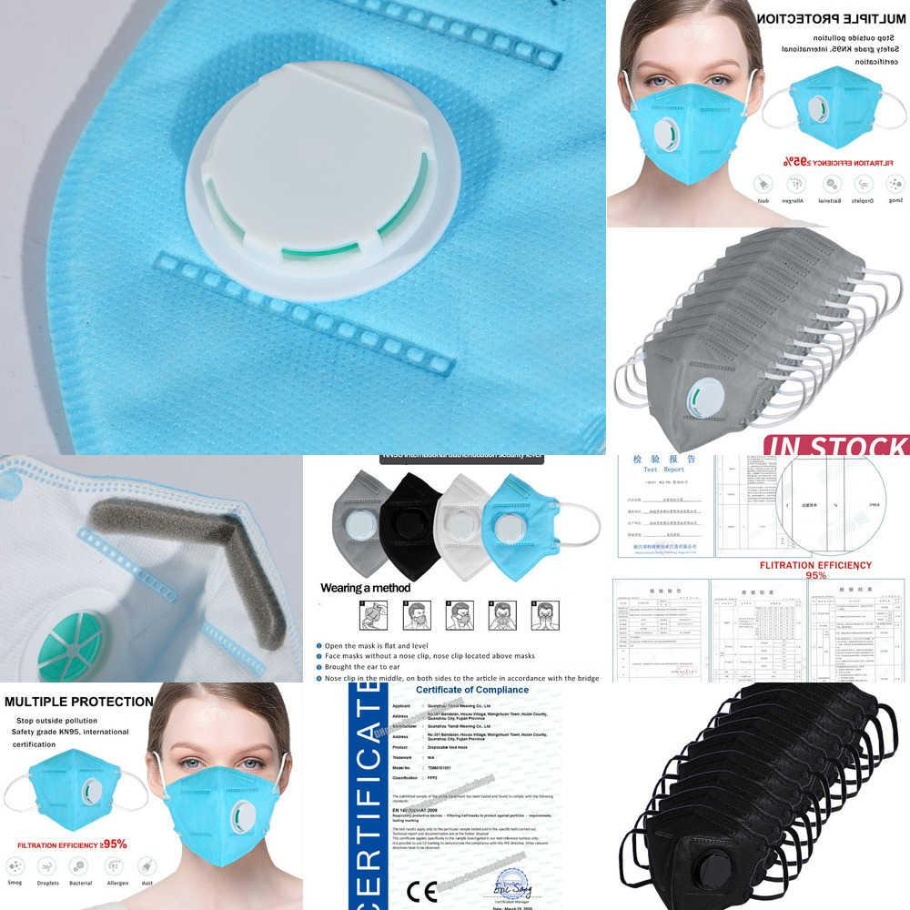 Adult Vertical Folding Dropshiping 10 Pcs Kkf94 Nonwoven Valved Dust 2.5 Mouth Mask with V XVOFXVOF 4SQ5