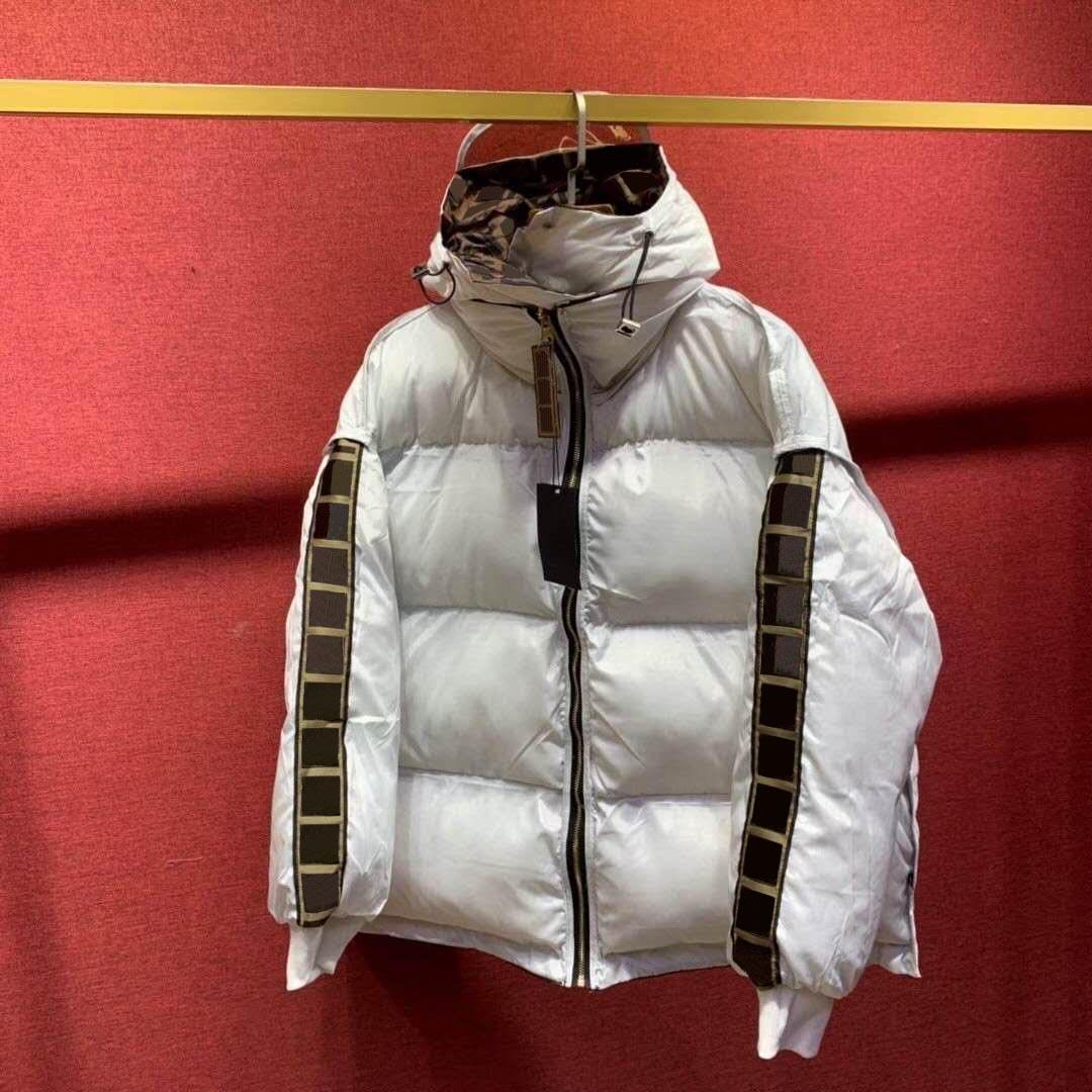 Унисекс мужские пуховые пальто двухсторонние моды буквы струнные куртки зимняя толстая ветровка повседневная с капюшоном Parkas 3 цвета азиатских