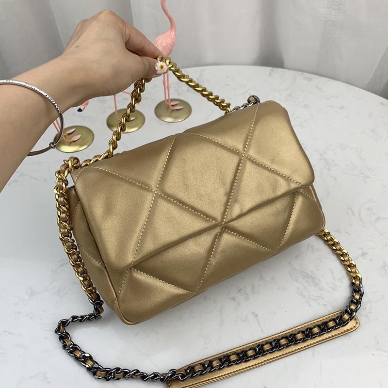 Sacos genuínos bolsas bolsas saco de desenhista mulheres flap ombro moda qualidade 19 luxurys maxi crossbody saco de couro superior com caixa Evnki